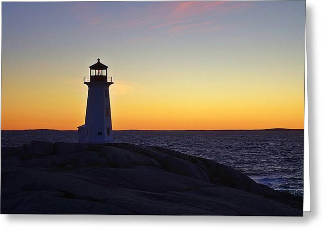 Peggy's Cove Lighthouse Greeting Card by Heather Vopni