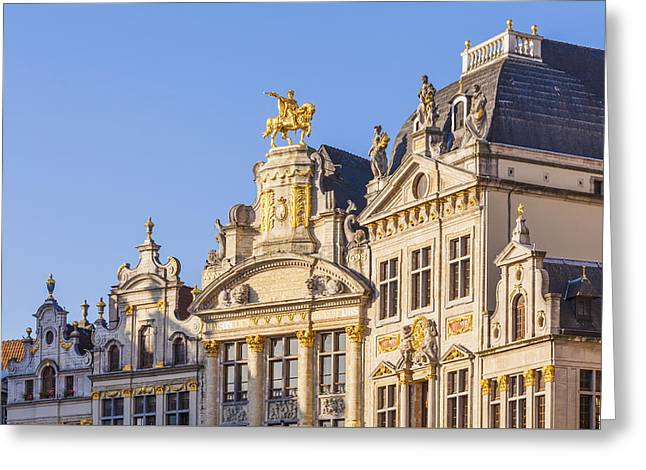 Guild Houses At The Grand Place Greeting Card by Werner Dieterich