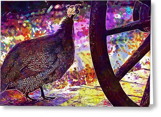 Guinea Fowl Guinea Fowl Chicken  Greeting Card