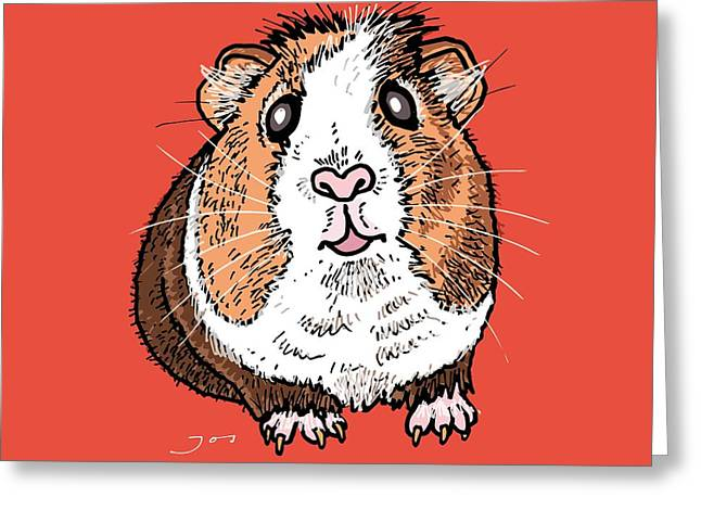 Guinea Pig Greeting Card by Pets Portraits
