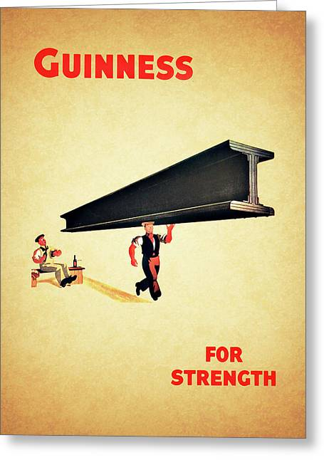 Guiness For Strength Greeting Card by Mark Rogan