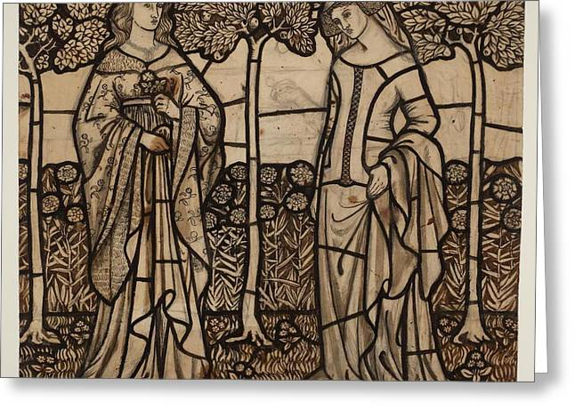 Guinevere And Iseult Greeting Card by William Morris