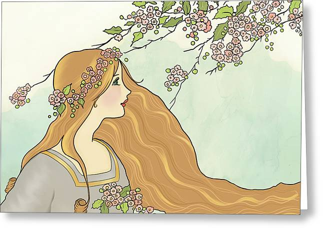 Guinevere Had Golden Hair Greeting Card by Little Bunny Sunshine