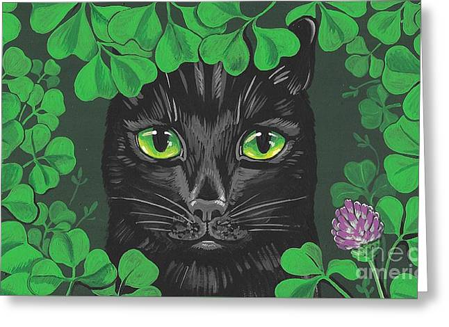 Guinevere The Green Eyed Cat Greeting Card