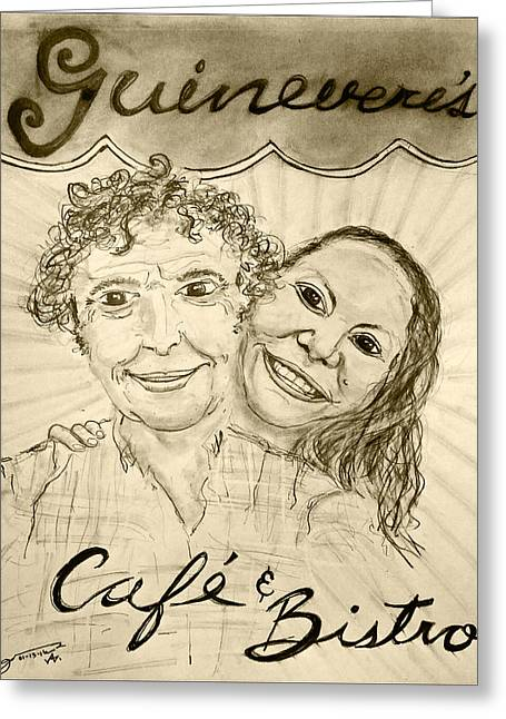 Guinevere's Cafe And Bistro Greeting Card by Jose A Gonzalez Jr