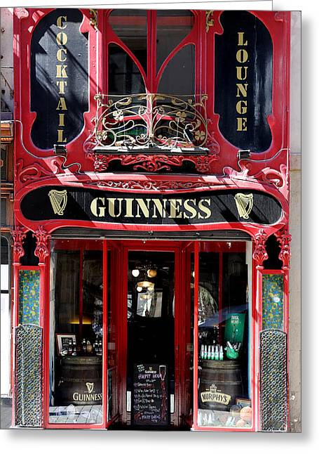 Greeting Card featuring the photograph Guinness Beer 5 by Andrew Fare