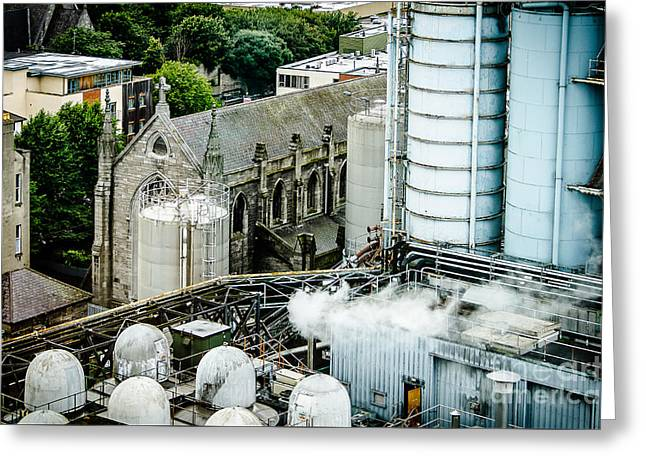 Guinness Brewery And St James Church In Dublin Greeting Card