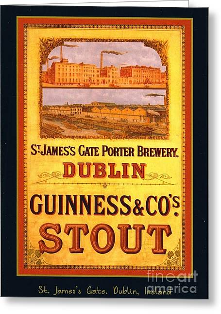 Guinness - Stout Greeting Card by Pg Reproductions