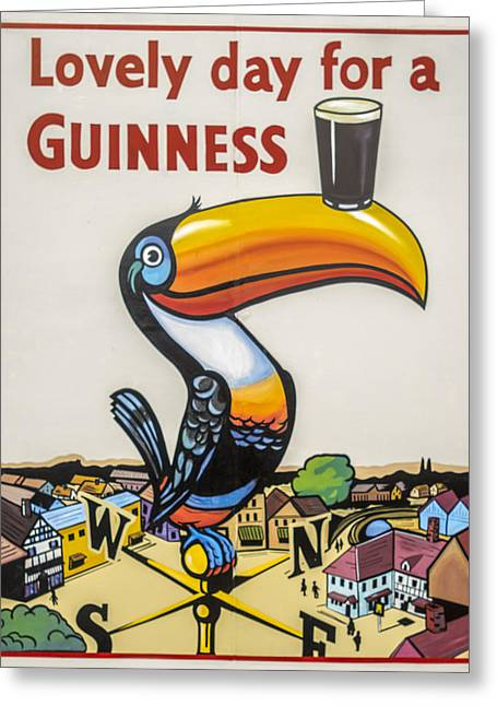 Guinness Toucan Greeting Card by F Leblanc