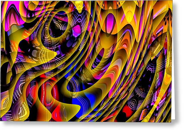 Guitar Abstract Greeting Card