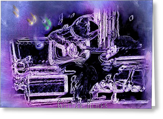 Greeting Card featuring the photograph Guitar Blues by Susan Kinney