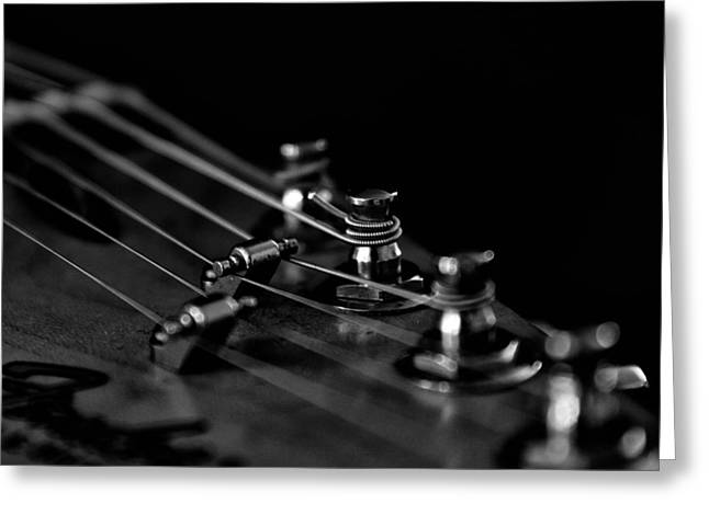 Guitar Close Up 1 Greeting Card by Stelios Kleanthous