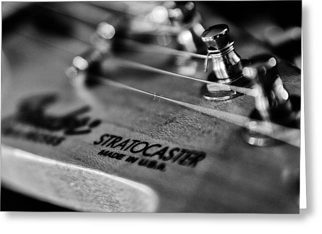 Guitar Close Up 3 Greeting Card by Stelios Kleanthous