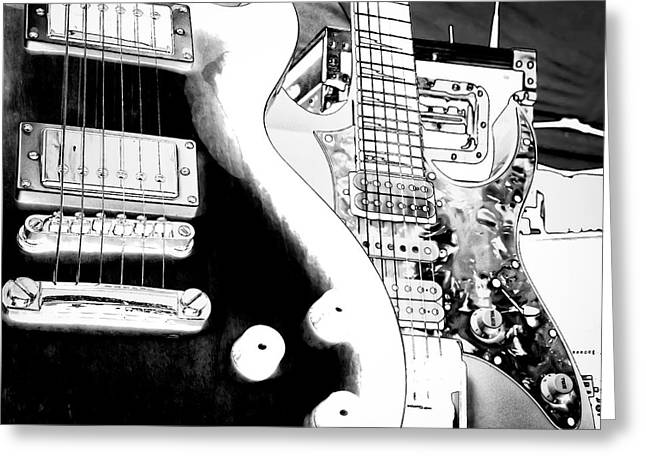 Guitar Duo Greeting Card by David Patterson