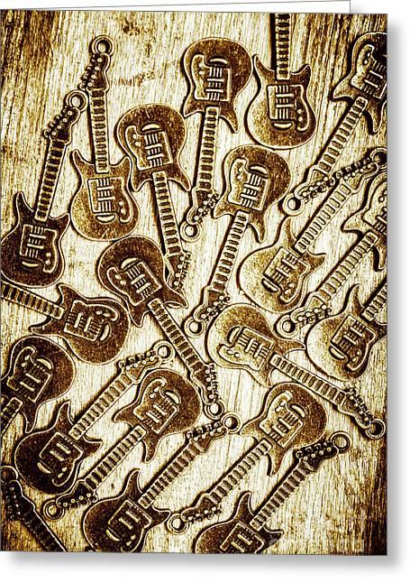 Guitar Echo Chamber Greeting Card