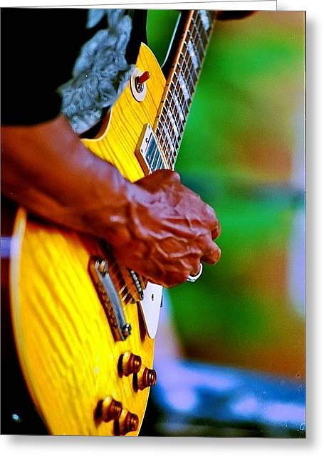 Guitar Hand Greeting Card
