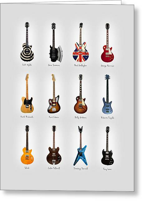 Guitar Icons No3 Greeting Card by Mark Rogan