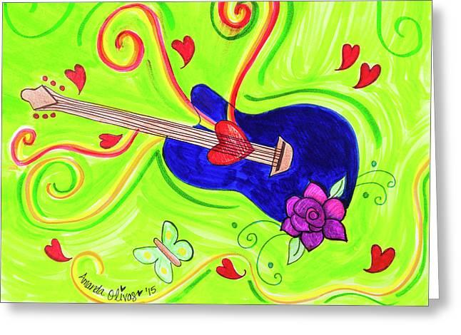Sound Of Swirls Greeting Card