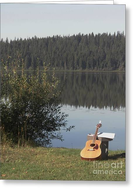 Guitar Lake Greeting Card