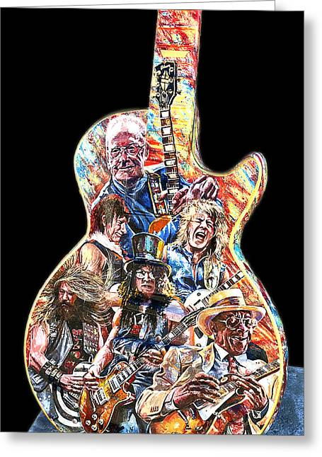 Guitar Legends Picking A Gibson Greeting Card