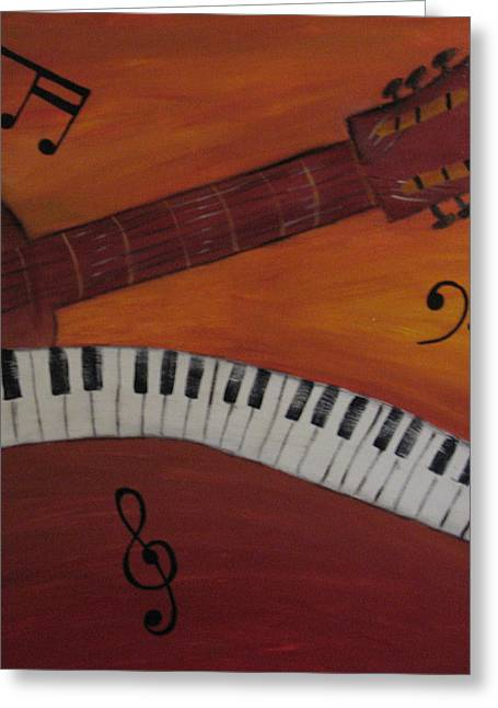 Guitar Part Two Greeting Card by Christian  Hidalgo