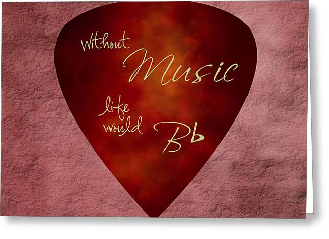 Guitar Pick - Without Music Greeting Card by Tom Mc Nemar