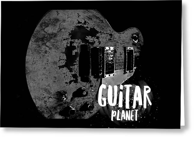 Greeting Card featuring the photograph Guitar Planet  by Guitar Wacky