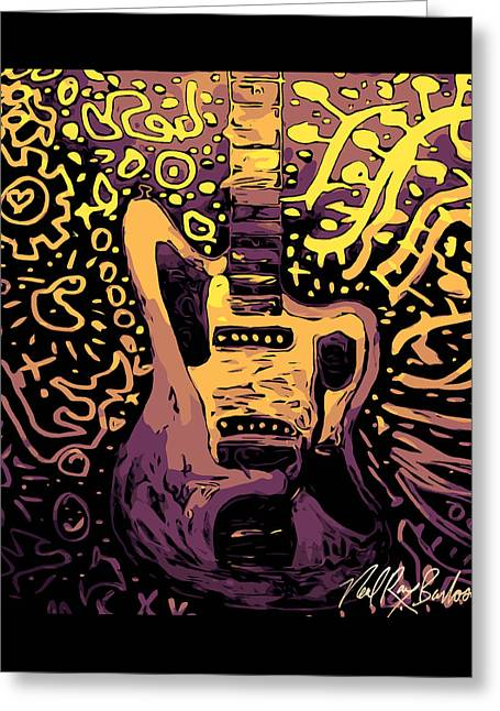 Guitar Slinger Greeting Card