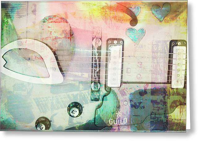 I Heart Music Greeting Card by Susan Stone