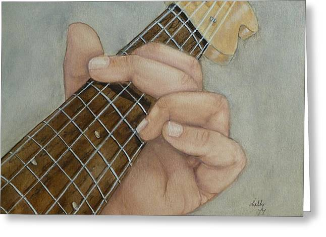 Guitar Strumming In 'g' Cord Greeting Card