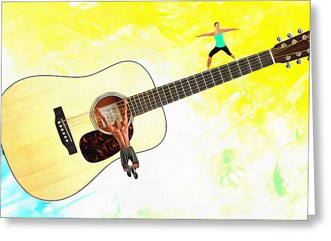 Guitar Workout Greeting Card by Anthony Caruso