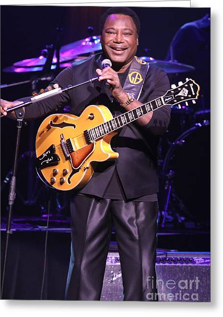 Guitarist George Benson Greeting Card by Concert Photos