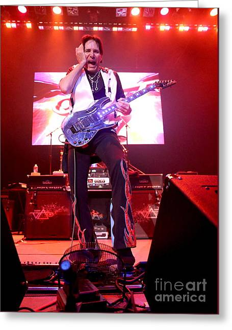 Guitarist Steve Vai Greeting Card by Concert Photos