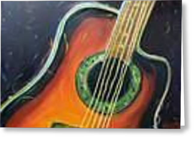 Guitarra De Baile Greeting Card by Stephanie Allison