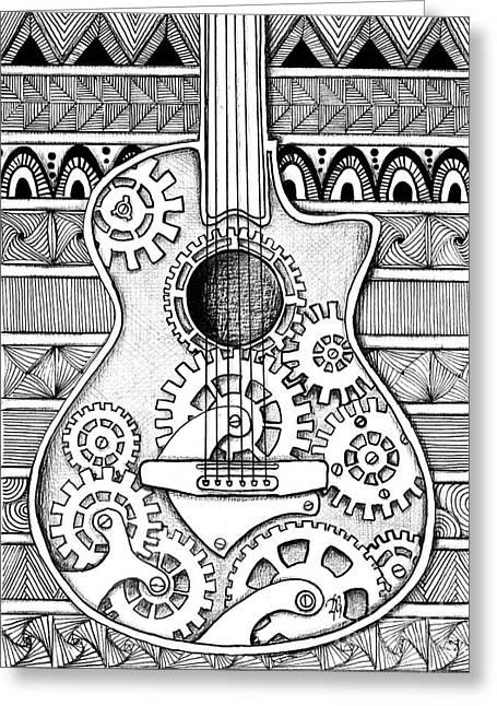 Guitarra No 2 Greeting Card by Delein Padilla