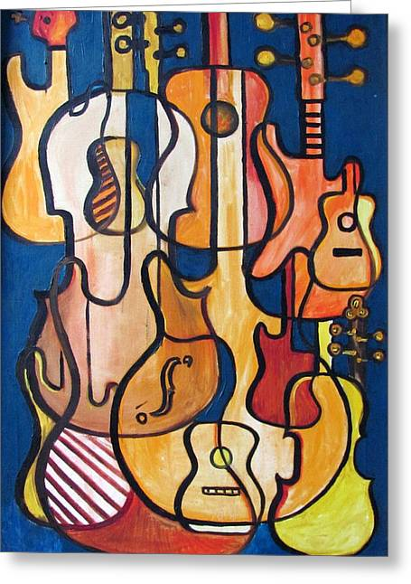 Guitars And Fiddles Greeting Card