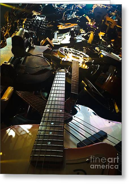 Guitars Of Rock Greeting Card by Michael Gailey