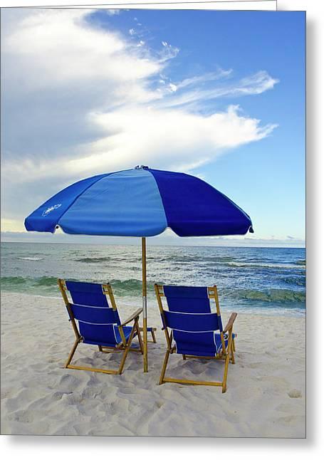 Gulf Coast Beach Oasis Greeting Card