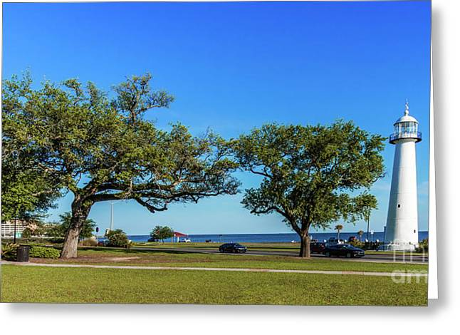 Gulf Coast Lighthouse Seascape Biloxi Ms 3663b Greeting Card