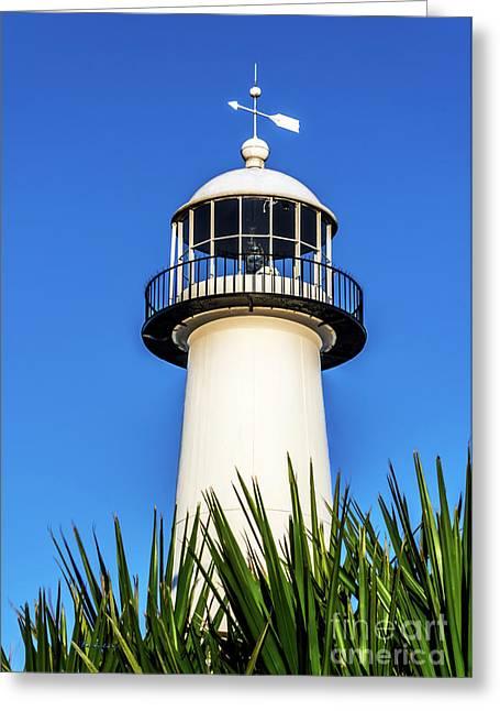 Gulf Coast Lighthouse Seascape Biloxi Ms 3819a Greeting Card