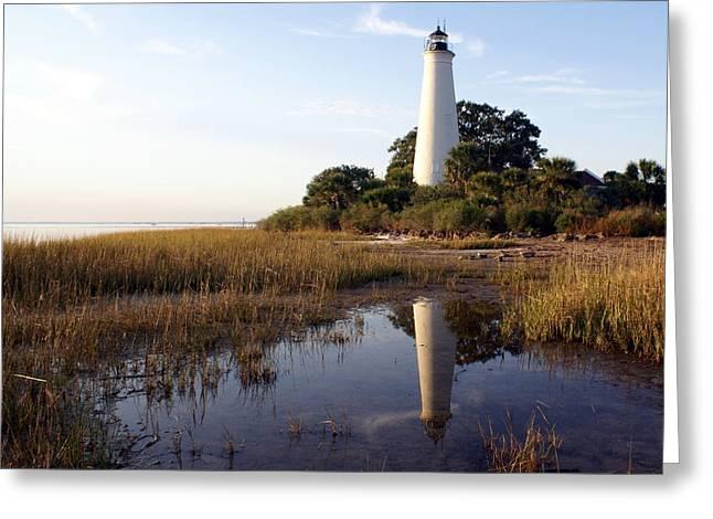 Gulf Coast Lighthouse2  Greeting Card by Marty Koch