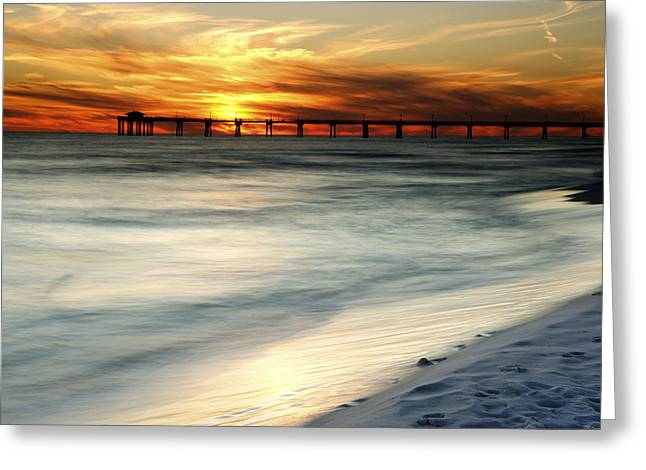 Gulf Coast Pier Greeting Card by Eric Foltz