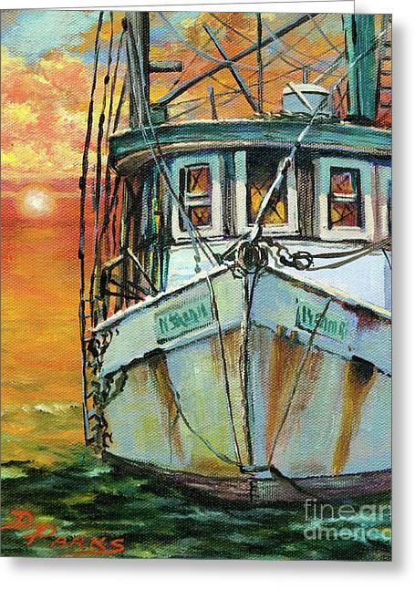 Gulf Coast Shrimper Greeting Card