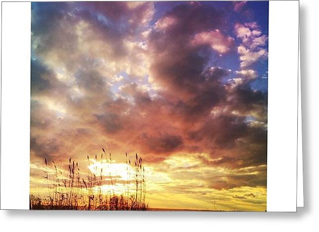 Gulf Coast Sunset #clouds #sunset Greeting Card