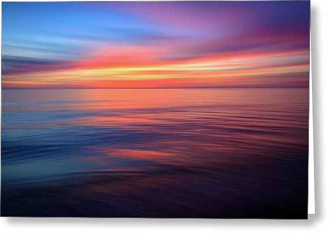 Gulf Coast Sunset Ocean Abstract Greeting Card