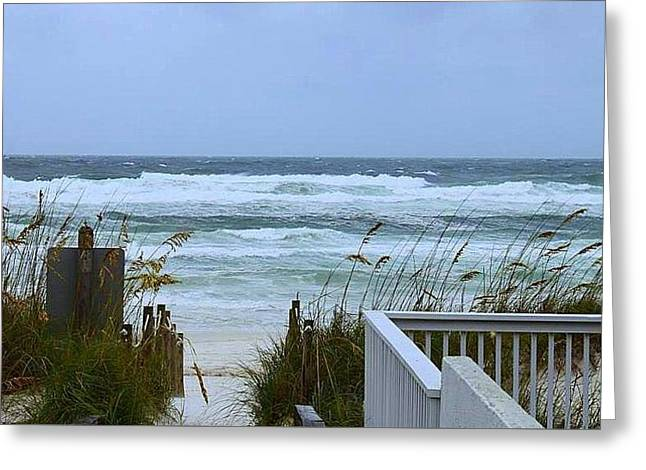 Greeting Card featuring the photograph Gulf Coast Waves by Debra Forand
