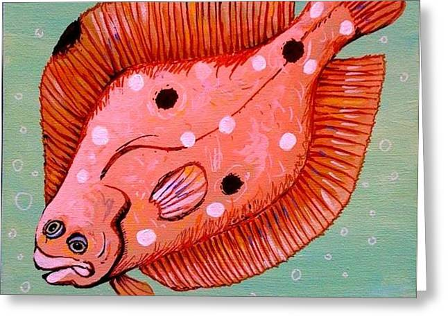 Gulf Flounder Greeting Card by Emily Reynolds Thompson