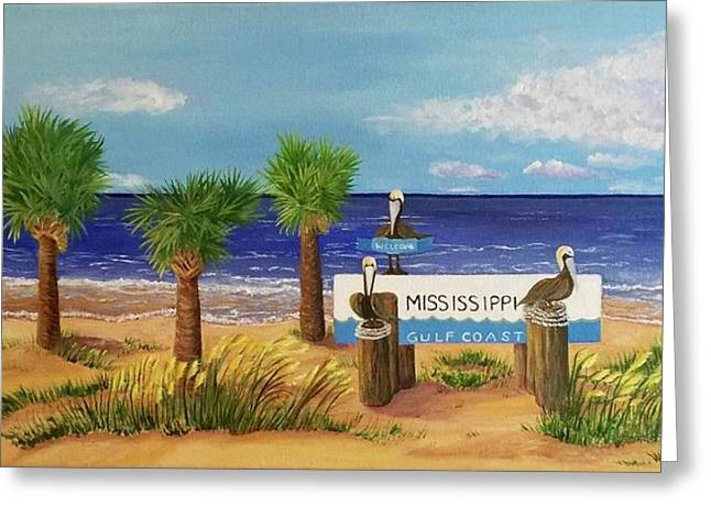 Gulf Shore Welcome Greeting Card