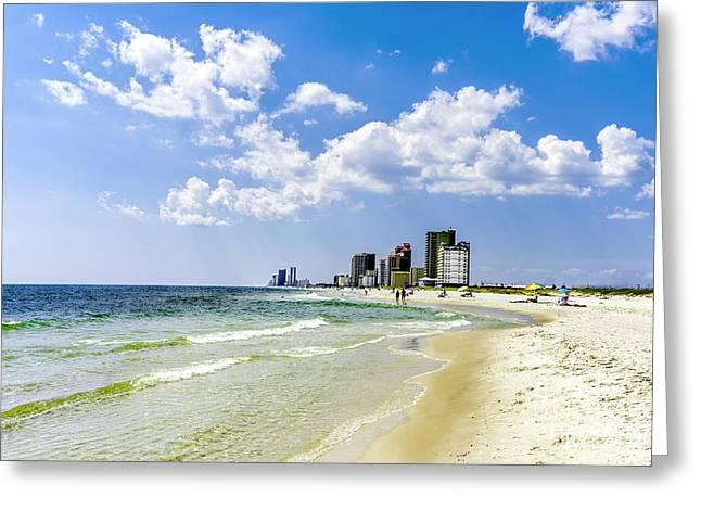 Gulf Shores Al Beach Seascape 1746a Greeting Card