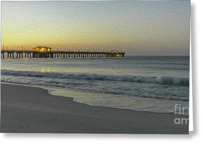 Gulf Shores Alabama Fishing Pier Digital Painting A82518 Greeting Card